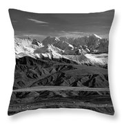 Paxson Lake Pano Throw Pillow