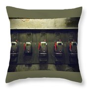 Pay Phones In Alley, Venice Throw Pillow