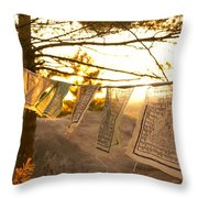 Prayer Flags Throw Pillow