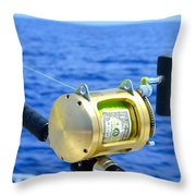 Payment To The Fish Gods Throw Pillow