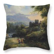Paysage Arcadien Throw Pillow