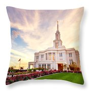 Payson Utah Temple Dramatic View Throw Pillow