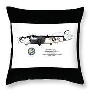 Pb4y-1 Liberator Profile Throw Pillow