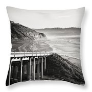 Pch Scenic In Black And White Throw Pillow