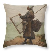 Pcheuse Bretonne Throw Pillow