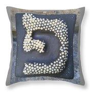 Pe, Pearls Throw Pillow