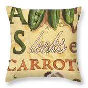 Pea Soup Throw Pillow by Debbie DeWitt