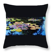 Peace Among The Lilies Throw Pillow