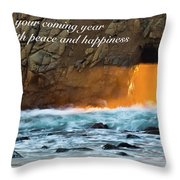 Peace And Happiness Throw Pillow