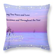 Peace And Love For Christmas Card Throw Pillow