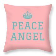 Peace Angel Throw Pillow