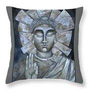 Peace Buddha Throw Pillow