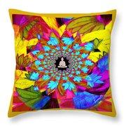 Peace Buddha Meditation Throw Pillow