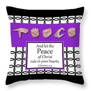 Peace - Bw Graphic Throw Pillow