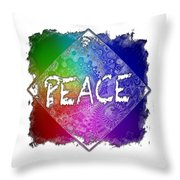 Peace Cool Rainbow 3 Dimensional Throw Pillow