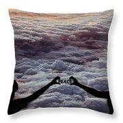 Peace - Digital Art Throw Pillow