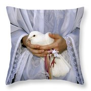 Peace Dove Throw Pillow