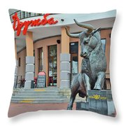 Peace. Friendship. Bubble Gum Throw Pillow by Andy Za