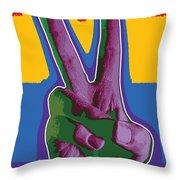 Peace Hand Throw Pillow