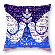 Peace Holiday Card Throw Pillow