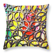 Peace In All Colours Throw Pillow