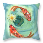 Peace Koi Throw Pillow