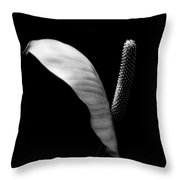 Peace Lilly Throw Pillow