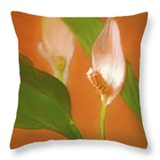 Peace Lily Grace 10 Throw Pillow