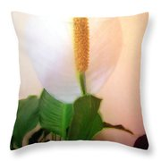 Peace Lily Luminous Throw Pillow