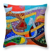 Peace Love And Hope Arabic Inspirational Calligraphy Throw Pillow by Riad Belhimer