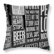 Peace, Love And Rock N Roll Throw Pillow