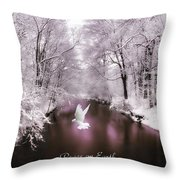Peace On Earth With Text Throw Pillow