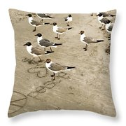 Peace On The Beach Throw Pillow