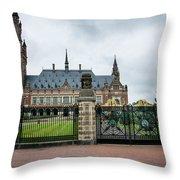 Peace Palace Throw Pillow