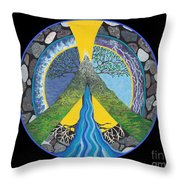 Peace Portal Throw Pillow