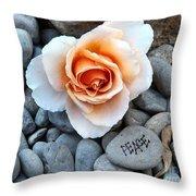 Peace Rocks Throw Pillow
