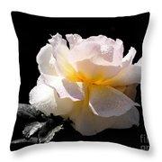 Peace Rose Inner Light Throw Pillow