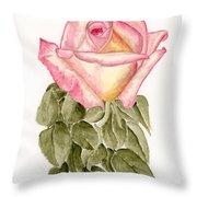 Peace Rosebud Throw Pillow