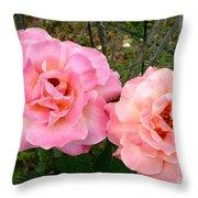 Peace Roses Throw Pillow