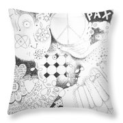 Peace Rules Throw Pillow