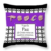 Peace Spanish - Bw Graphic Throw Pillow