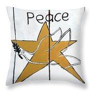 Peace Star Throw Pillow