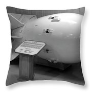 Peace Through Strength Throw Pillow