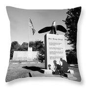 Peace Through Strength - Veterans War Memorial Throw Pillow