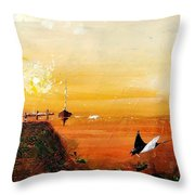 Peace Underneath 4 Throw Pillow