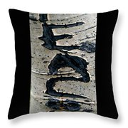 Peace Written In The Trees 4 Throw Pillow