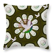Peacedoves Bringing Peace To The Earth Throw Pillow