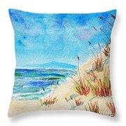 Peaceful Beach II Throw Pillow