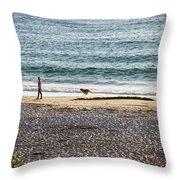 Peaceful Beaches Throw Pillow