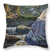 Peaceful Brooke Throw Pillow